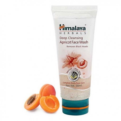 Himalaya Deep Cleansing Apricot Face Wash 50ml - Prevent Blackheads