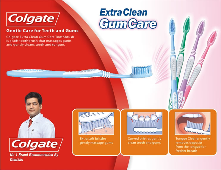 Colgate Extra Clean Gum Care toothbrush